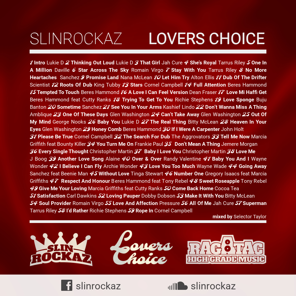 Lovers Choice Reggae Mix – Slin Rockaz Sound